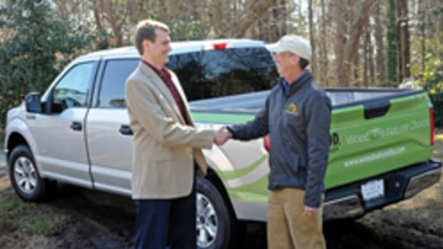 "Atlanta-based contractor Joel Harper won a new truck in this year's ""Wood, Naturally Build and Design Sweepstakes."""