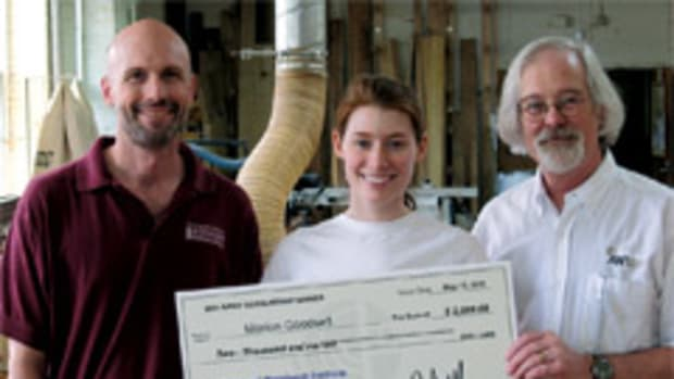 Worthy students receive scholarship money from the foundation to advance their woodworking careers.