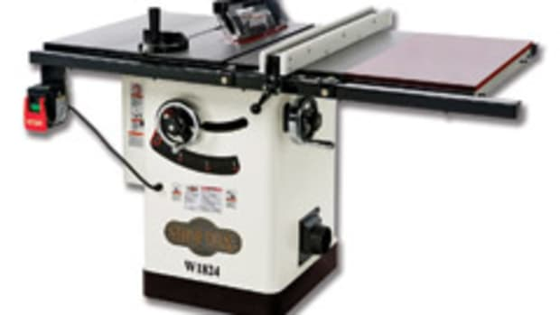 The Shop Fox hybrid table saw model W1824.