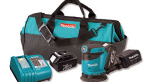 Makita's new random orbit sander is part of the company's growing lineup of more than 50 cordless tools.