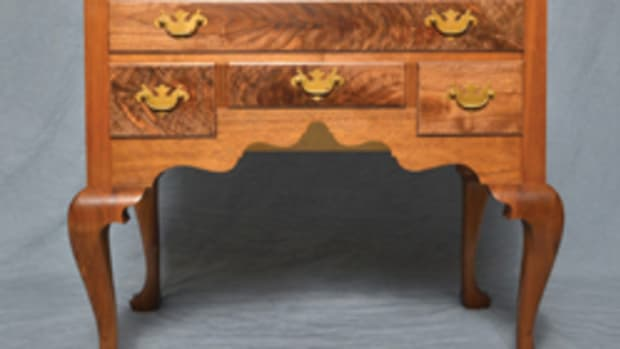 A black walnut lowboy by J. Scott Hillger.