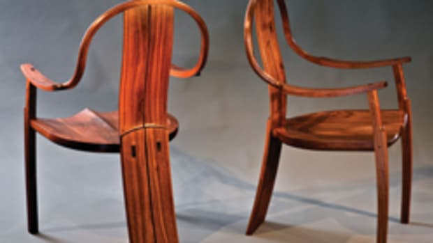 Furniture by Maine's Geffory Warner (above) and David Talley (next page) will be featured at the Paradise City show, May 23-25 in Northampton, Mass.