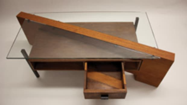 Benjamin Rosenberg won two awards, including the case goods category for this desk.