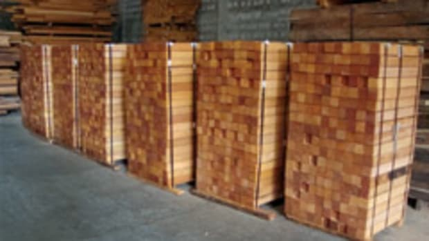 Mahogany stock at World Timber Corp.