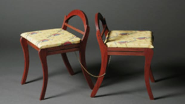 Stacey Mott designed and created Love/Hate seat, which was used as part of her Windgate Fellowship Award proposal.