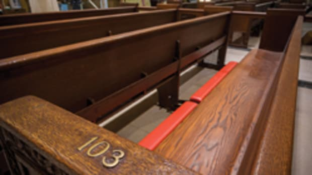 The old pews have been in service since 1927. The total restoration project is expected to cost $175 million and be completed by the end of 2015.