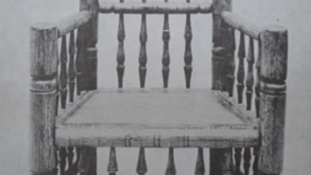 The second 'Great Brewster Chair' held in the collection of the Metropolitan Museum of Art in New York City.