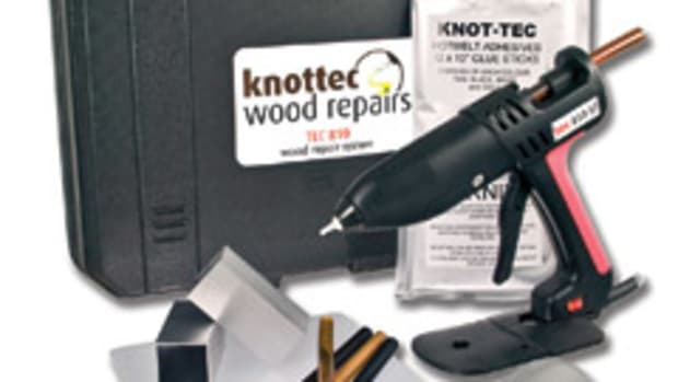 The Knot-Tec wood repair kit.