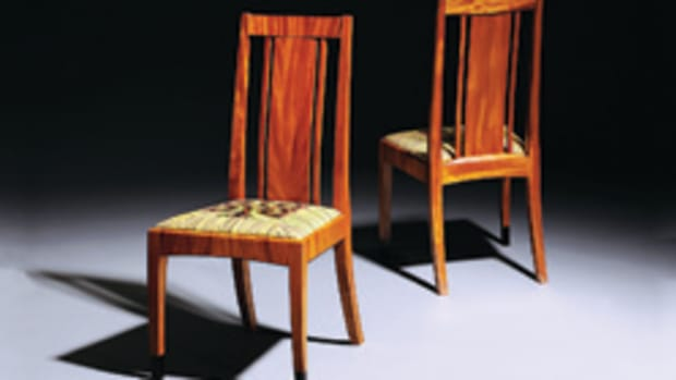 "The ""Just Chairs"" exhibit includes work by Tom McLaughlin."