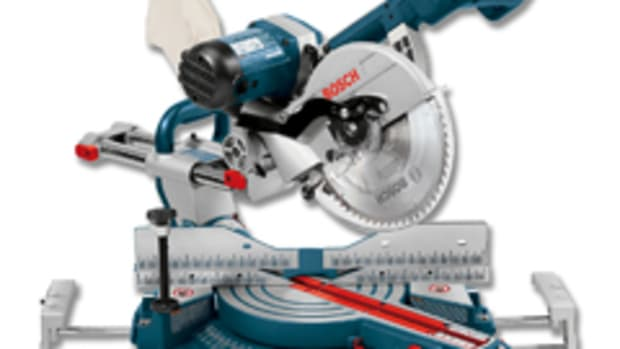 "The Bosch 10"" dual-bevel sliding miter saw, model 4310."