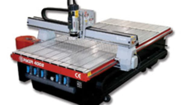 The Pacer model 4008 CNC router.