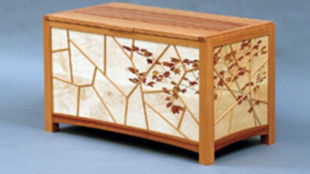 "The Rising Star exhibit features this ""Vine Maple Chest"" by Brett MacLearnsberry."