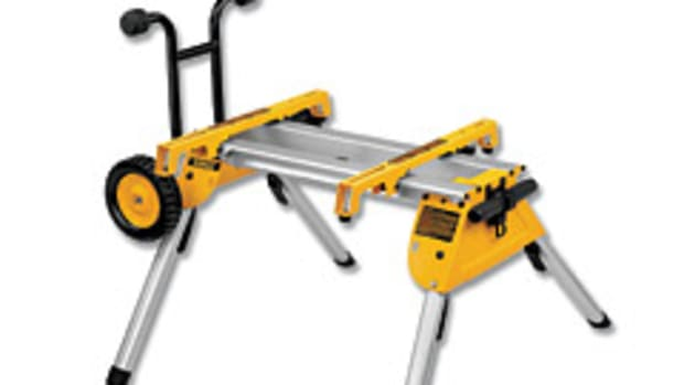 DeWalt's rolling table saw stand