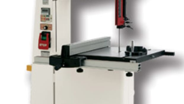 "The Shop Fox 18"" wood/metal-cutting band saw, model M1113."