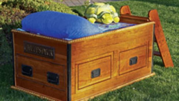 "The sea chest bunk bed, produced by Artisans of the Valley for ""Tanked,"" a television show on Animal Planet."