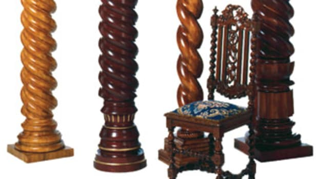 Known for spiral work, MWT Custom Wood Working in Hickory, N.C., can supply turned work from the smallest baluster to load-bearing columns.
