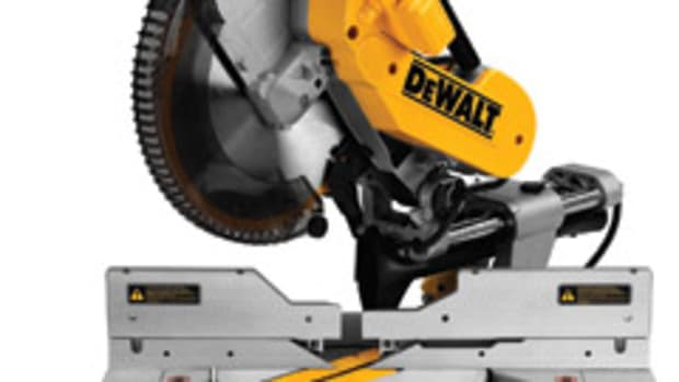 "DeWalt's 12"" sliding compound miter saw, model DWS780."