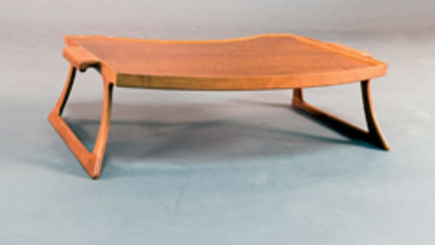 Leo Litto of Austin, Texas, won the Best of Show award for this tray table.