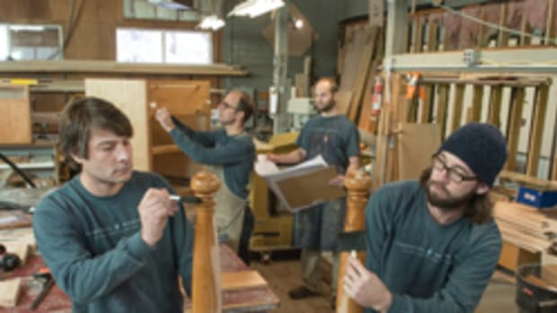 The crew at Pomerantz Woodworking, featured in the January 2014 issue.
