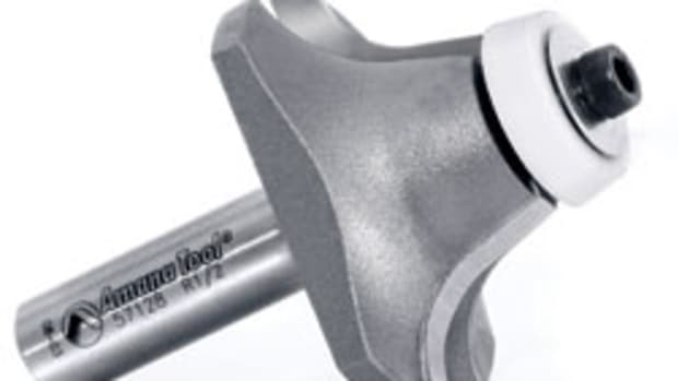 Amana Tool's undermount router bits include roundover, ogee and bevel profiles.
