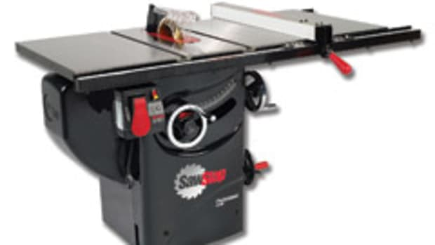 SawStop's 1-3/4-hp cabinet saw is constructed from cast iron and steel, weighs more than 360 lbs. and features the company's blade-stopping technology.