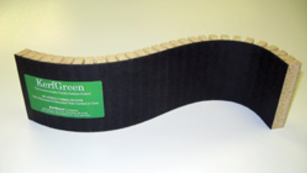 Kerfkore's KerfGreen bendable panel.