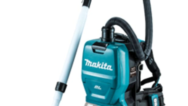 Makita's new 36-volt job-site vacuum.