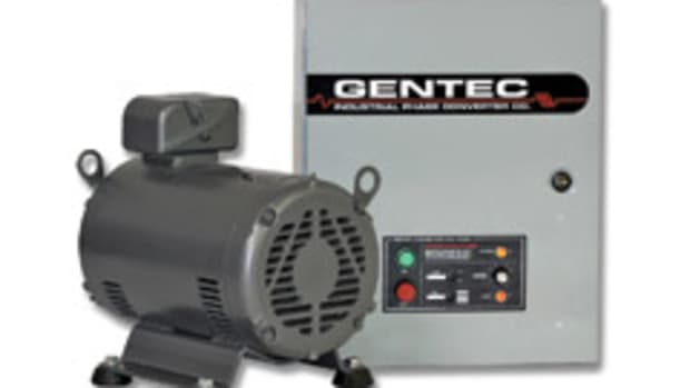 Gentec's rotary phase converter.