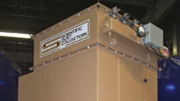 The SPJ-BL series of baghouse dust collectors from Scientific Dust Collectors are designed for lower cfm flow amounts.