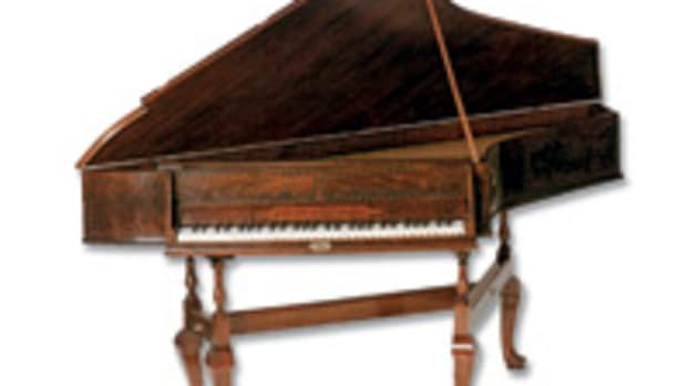 Lash's portfolio includes this spinet, a reproduction of a piece made by John Harris found at the Metropolitan Museum of Art in New York.