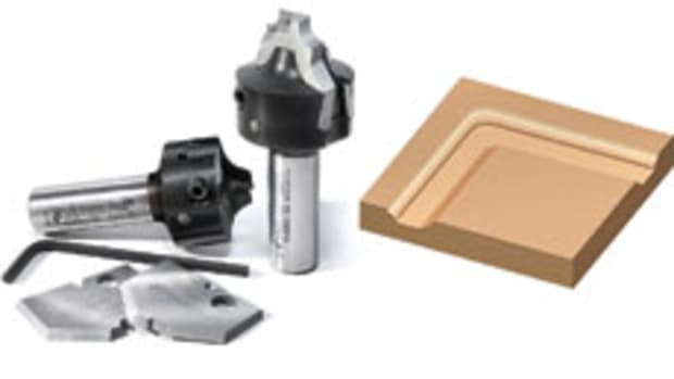 Amana Tool's insert router bits for producing MDF raised panel doors.