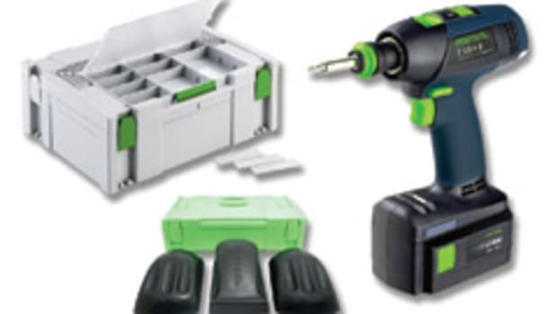 Festool USA is now selling non-set versions of its T 12+3 and T 15+3 drill/drivers as well as three hand-sanding blocks and a new containment system.