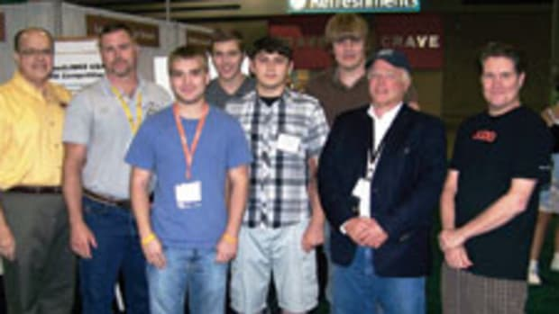 Students from the Dale Jackson Career Center in Lewisville, Texas, with instructor Joseph Davis.