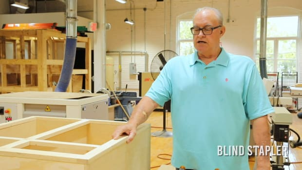 Blind Stapler Instruction - Attach a face frame to a cabinet box