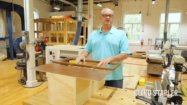 Blind Stapler Instruction - Attach a prefinished cabinet frame to a cabinet box