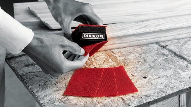 B)-Diablo-sanding-block-application