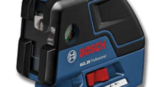 The Bosch GCL 25 five-point laser.
