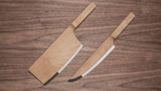 Maple cutlery in the Messler Gallery exhibit.