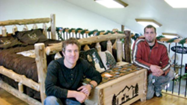 Zech Zehr and Barry Roes are the new owners of Riverside Rustics in Lowsville, N.Y.