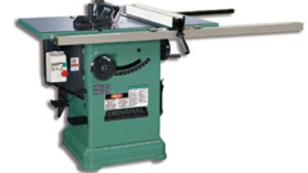 The new cabinet saw from General, model 50-275R, boasts a 3-hp motor.