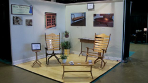 Christopher Krauskopf's booth at the Baltimore Fine Furnishings show.