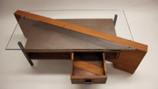 Benjamin Rosenberg won two awards, including the case goods category for this desk.