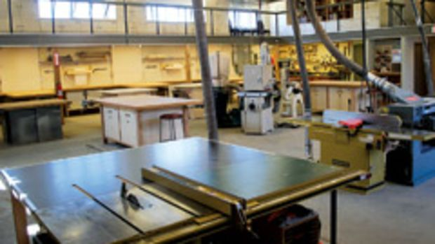 Philadelphia Woodworks is an 8,000-sq.-ft. community workshop offering access to professional-grade tools, training, on-site lumber, storage facilities and gallery space.