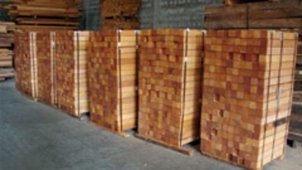 Mahogany stock at World Timber Corp.