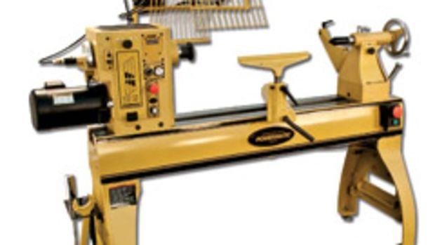 Powematic's model 4224B wood lathe.