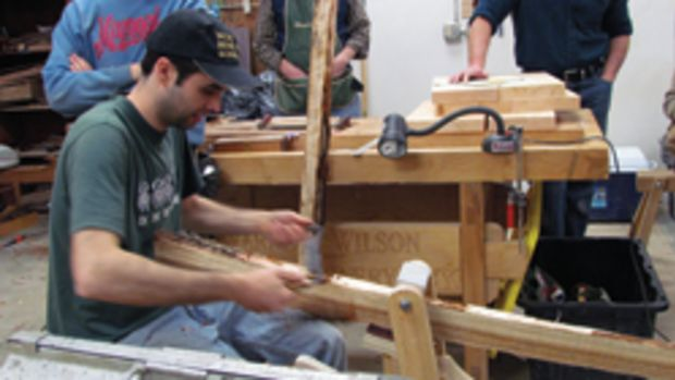 Warren Wilson College's updated wood center.