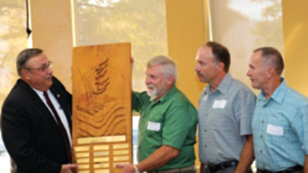 The Maine Wood Products Assocation recognized the innovation and growth of Maine Wood Concepts in August at an awards ceremony.