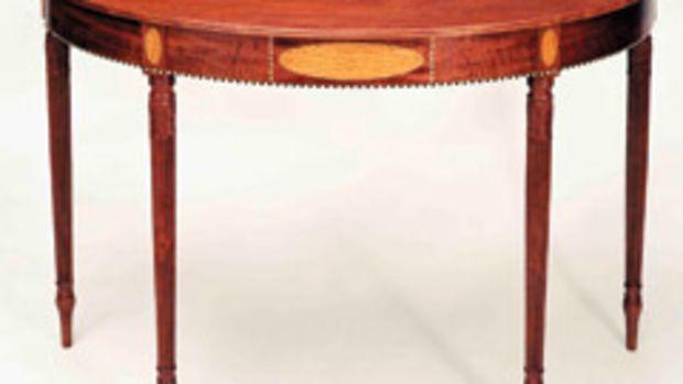 Brad Wolcott's elliptical table.