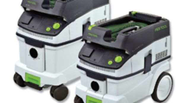 Festool has introduced two new dust extractors that feature the company's self-cleaning filter bags.