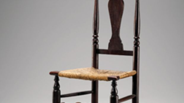 One of a pair of side chairs, from the Mabel Brady Garvin Collection, in the Yale exhibit.